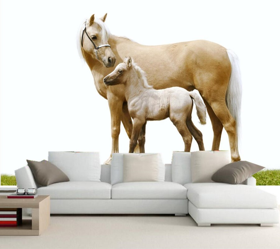 Custom photo 3d murals,Horses Two Animals hd wallpaper,dining room living room sofa TV wall children bedroom wallpaper 3d mural 3d wallpaper custom photo hd mural flowers deer forest tv sofa bedroom ktv hotel living room children room