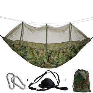 Image 2 - 屋外ハンモック蚊帳で保持することができ 300 キロ超強力ぶら下げ Hamak ハイキングクライミング用旅行キャンプ Hamac