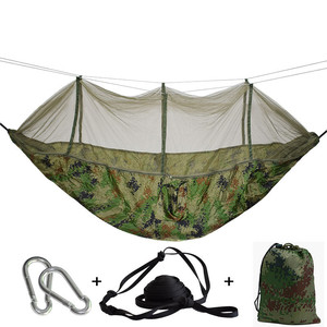 Image 2 - Outdoor Hammock With Mosquito Net Can Hold 300kg Super Strong Hanging Hamak For Hiking Climbing Travel Camping Hamac