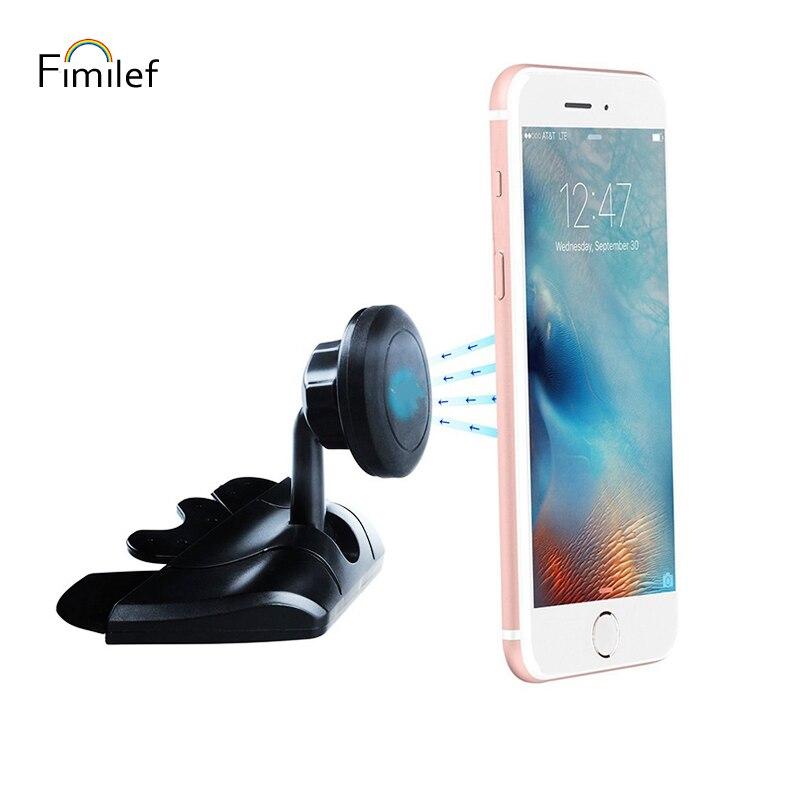 Fimilef Universal Magnetic Car CD Slot Mount Holder For Cell Phones Mini Tablets Magnet Holder Stand For Mobile Phone Tablet GPS