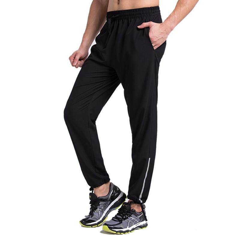 Hombres pantalones de correr correr deportes jogging pantalones de ejercicio de
