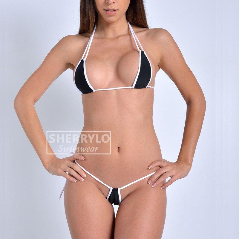 SHERRYLO Costumi Da Bagno Donna Mini Micro Bikini Swimwear Women Triangle Top String Thong Costume