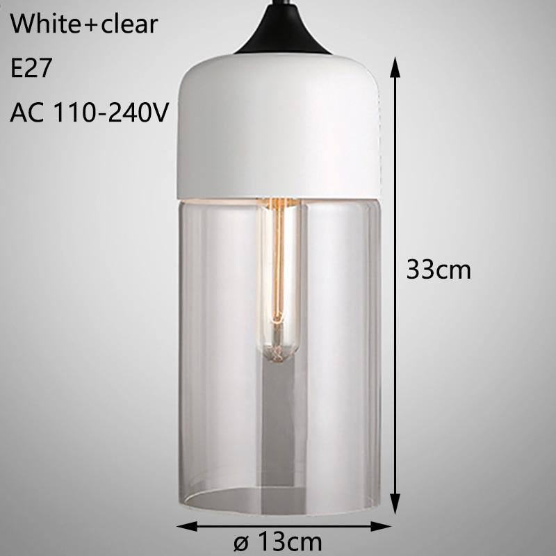 Nordic Modern loft hanging Glass Pendant Lamp Fixtures E27 E26 LED Pendant lights for Kitchen Restaurant Bar living room bedroom 4