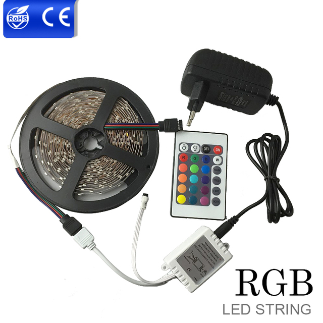 Smd 2835 non waterproof rgb led strip light with 12v power supply smd 2835 non waterproof rgb led strip light with 12v power supply adapter 24 keys remote aloadofball Gallery