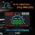 XYCING E350 HUD 5,8 pulgadas coche cabeza arriba pantalla parabrisas proyector OBD2 coche datos de conducción velocidad advertencia MPH velocímetro de combustible