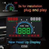 Xycing e350 hud 5.8 인치 자동차 헤드 디스플레이 윈드 스크린 프로젝터 obd2 자동차 운전 데이터 과속 경고 mph 연료 속도계|헤드업 디스플레이|자동차 및 오토바이 -