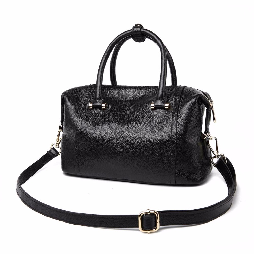 2018 new classic Boston leather handbags first layer hand shoulder bag hot ladies genuin ...