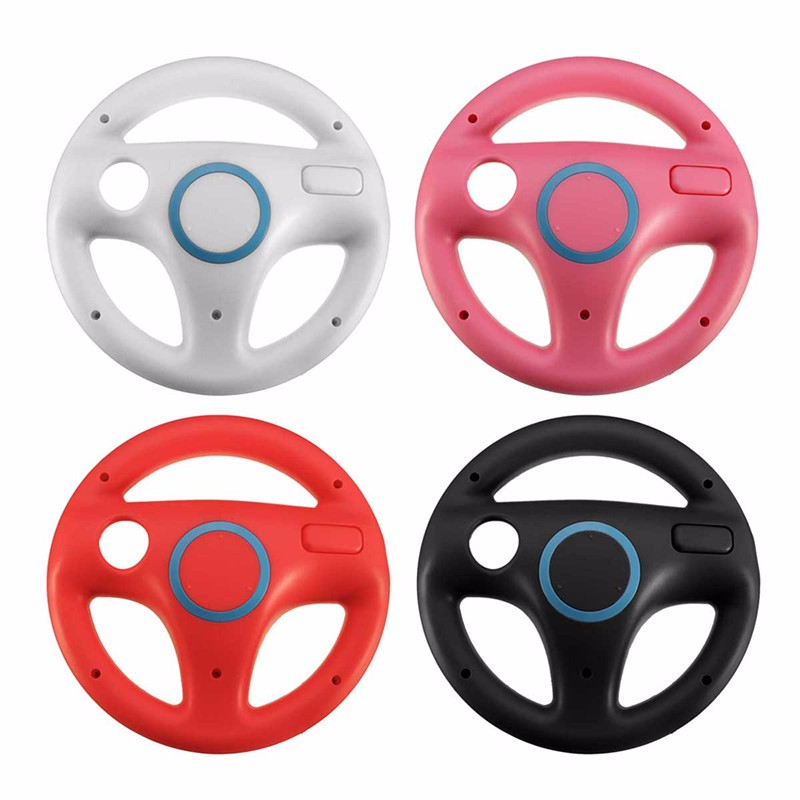 2015 Hot ! New Promotion White Plastic Steering Wheel For Nintendo for Wii Mario Kart Racing Games Remote Controller Console