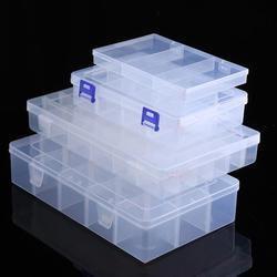 Регулируемый прозрачная пластиковая емкость для хранения Коробка для терминала небольшой компонент ювелирные изделия коробки