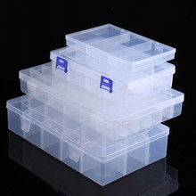 Boîte de rangement en plastique Transparent réglable, boîte de rangement pour Terminal de petits composants de bijoux, boîte à outils de perles, organisateur de pilules, étui de pointe de Nail Art