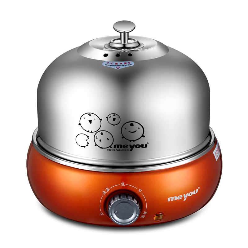 Stainless steel multifunctional predetermined egg boilers steamed egg custard automatically off power orange free shipping multifunctional stainless steel eggboilers mini egg and egg machine automatic power off single genuine