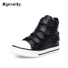 Drop Shipping 2017 Korean Autumn Cow Genuine Leather Fashion Woman Casual Sneakers Hook Loop Comfort Female Leisure Shoes C250
