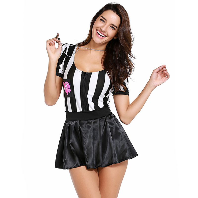 2018 Mini Dress for Women Striped Patchwork Robe Cheer Baby Costume New Sexy Cheer Leader Fancy Vestidos