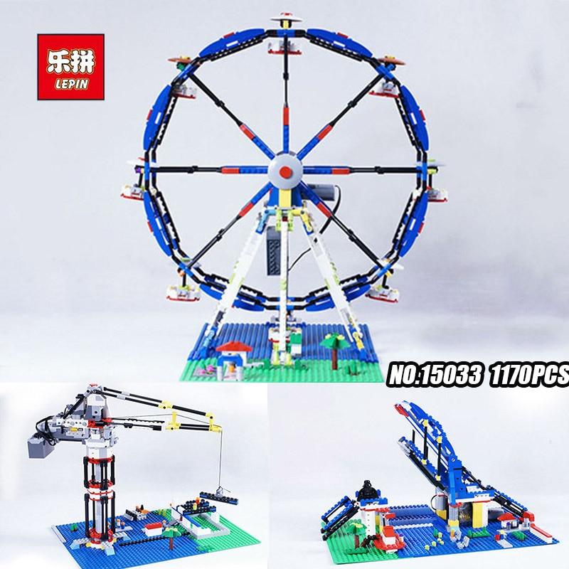 Lepin 15033 1170Pcs Building Classic Series The Three-in-One Electric Ferris Wheel Set Building Blocks Bricks Toy Model 10247