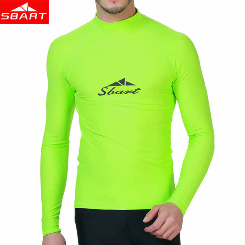 SBART Lycra Surf Rashguard Mannen Top Sharkskin Waterdicht Lange Mouwen Badpak Zonnebrandcrème Rash Guard Swim Surf T-shirt Rush Guards