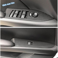 Lapetus Car Styling Inner Auto Door Armrest Window Lift Button Cover Trim ABS Fit For Cadillac XTS 2015 2019 Carbon Fiber Look