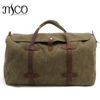 Oversized Vintage Military Canvas Travel Tote Duffel Bag Men Large Capacity Shoulder Bags Satchel Luggage Weekend