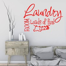High Quality Poster Quotation Wall Sticker Laundry Brand Decal Vinyl Wallpaper Home Art Window LW04
