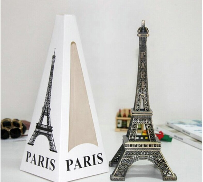 Home Decor Metal Crafts Creative Romantic Eiffel Tower Model Fashion Souvenirs Ornaments For Home New Year