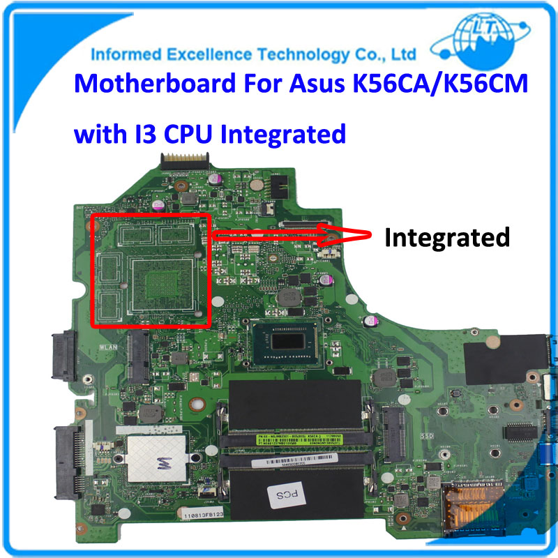 Motherboard K56CA Rev2.0 GM with I3-3217U CPU 60-NSJMB2301-B05 Integrated MB 100% Tested&Working Well sbc8252 long industrial motherboard cpu card p3 long tested good working perfec