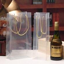 Прозрачные пакеты вино упаковочные мешки 13 дюймов, держатель для Шампань, трехслойный шпагат, полипропиленовая веревка для сока, Подарочна...