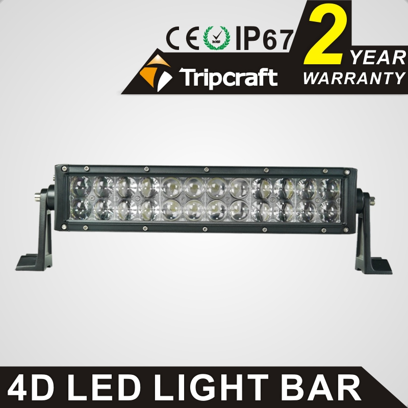 TRIPCRAFT 72W led work light bar 4D 12inch 6000k car driving lamp offroad 4x4 truck ATV SUV 4WD spot flood combo beam fog light popular led light bar spot flood combo beam offroad light 12v 24v work lamp for atv suv 4wd 4x4 boating hunting