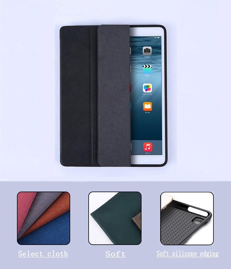 6Th Generation Leather+TPU Smart Sleep Wake Tablet Case A1822`A1823A`1893`A1954 Case For Ipad 9.7 Inch 2018/2017 For Ipad