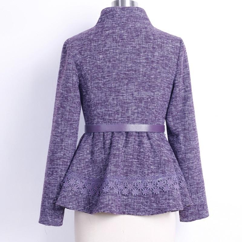De Outwear Automne D'origine Manteaux Dames Laine Grande Poitrine Nouveau Purple Taille 2016 Col D'hiver En Femmes Mode Manteau Pied Veste Unique r5qI4q0wx