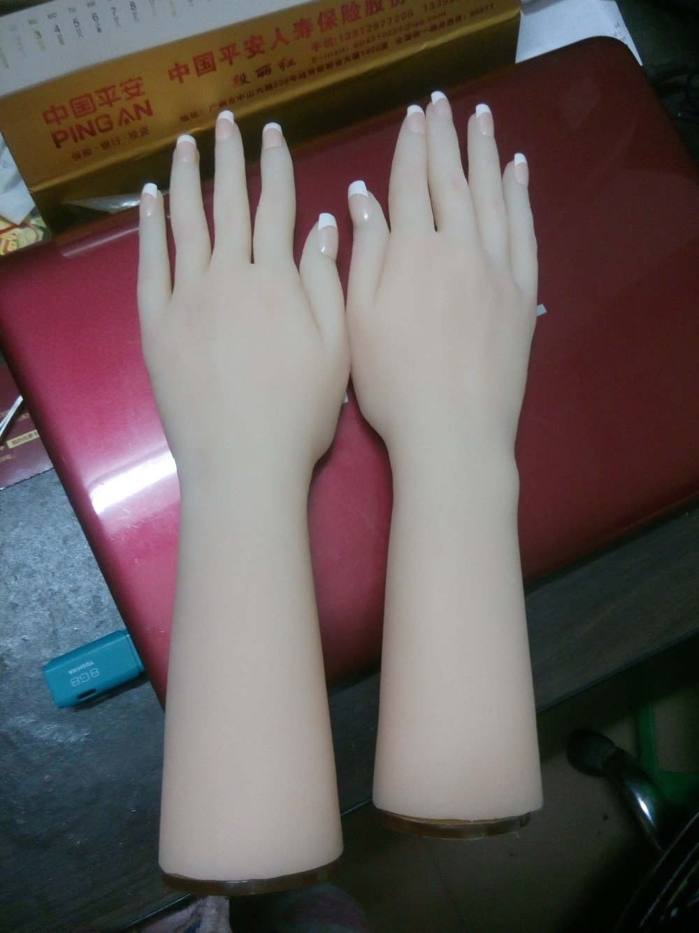 beautiful young girls hands to display, solid silicone hot woman woman hands with model of the nails and hands. ainhoa hands