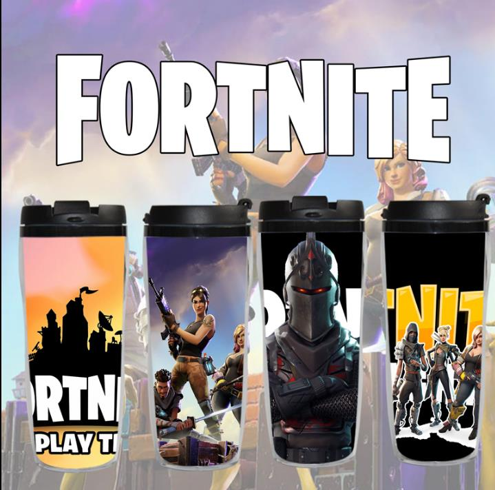 Fortnite Water Cups Outdoor Sport Bottle Coffe Cup 400ml