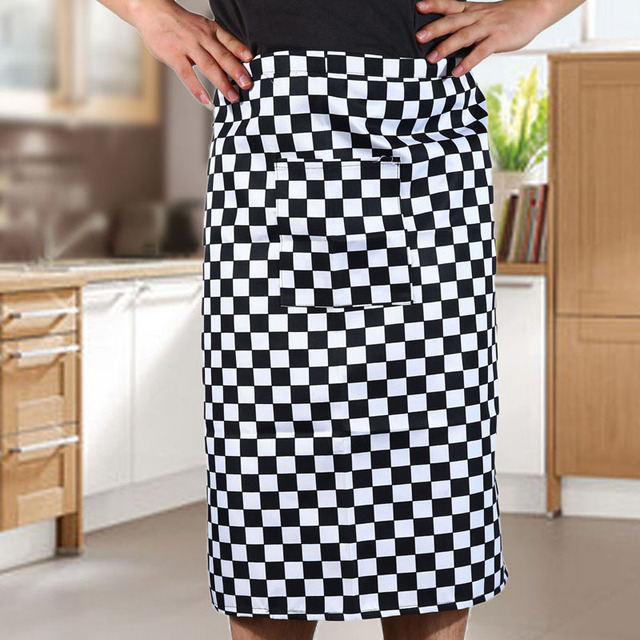 New Delicate Kitchen Restaurant Cooking Apron Stripe Half For Chef Waiter Kitchen Cook