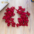 2pcs Fashion handmade red flower headband women forehead pearl jewelry crown bride headpiece wedding hair accessories huihong