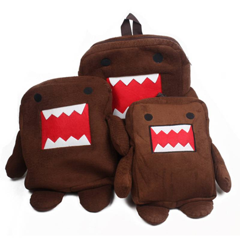 b8e41d250dd7 Fashion Anime Designer Domo Backpacks Cute Cartoon Plush Shoulder Bags  Children Gifts Toys Bags Mochila Escolar Brinquedos Dj120-in Plush Backpacks  from ...