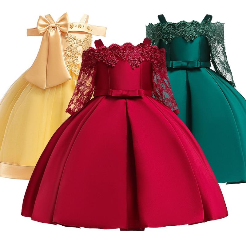 553f319b0413261 Платье для девочек на свадьбу, одежда для дня рождения для маленьких девочек  от 3 до 10 лет Детские платья для первого причастия для девочек Д..