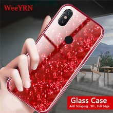 Luxury Hard Full Case Xiaomi Mi A2 lite A1 Mi 8 Mix 2S Case Tempered Glass Back Cover Redmi 6A Note 5 Pro Redmi 5 Plus Covers(China)