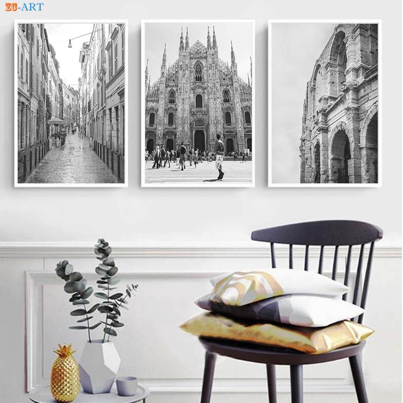 Ultra Italien Kunst Milan Venedig Rom Drucke Wand Dekor Große Wand Kunst YI-79