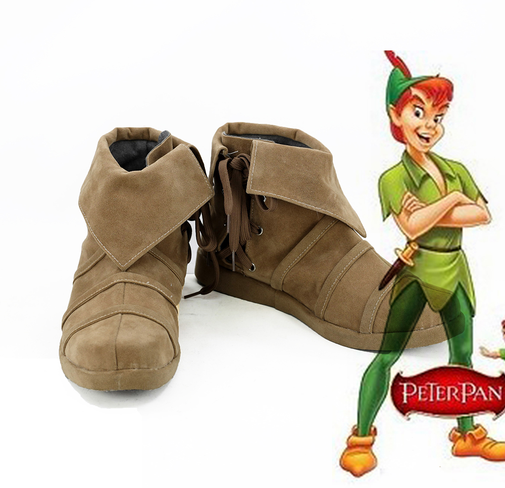Peter and Wendy Peter Pan Cosplay Boots Shoes Custom Made