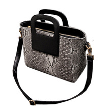 Women Multi Charm pra serpentine pattern diorissimo handbag purses and European and American Style handbags bianco Handbag Purse