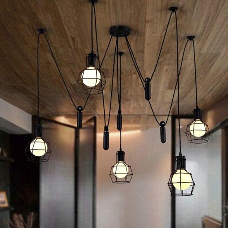 Vintage Spider Feet Iron Pendant Lights E27 Lamp Holder 110-240V Coffee House/Dining Hall/Club/Restaurant Lighting Free Shipping