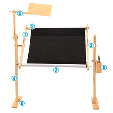 Solid Wood Cross Stitch Rack Adjustable Wooden Stand Desktop Embroidery Frame Hot Sale