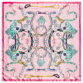 60*60cm Spring and autumn velvet chiffon scarf sunsreen cape beach towel Chain belt pattern silk scarf for Ladies bag A010