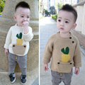 Children's Knitwear 0-5 Yrs Baby Boys Warm Knitted Woollen Sweater 2017 Autumn Winter New Cute Pocket Pullover Infant Kids G276