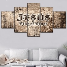 Christian Scripture Paintings on Canvas Wall Art for Home Decor Painting HD Printed Poster 5 Piece