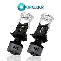 1 Pcs 2 Pcs Mini Projector Lens H4 LED Headlight Hi/Lo Beam Motorcycle Lamp 4300K 6500K White Yellow Car Light CSP Auto Bulb 12V
