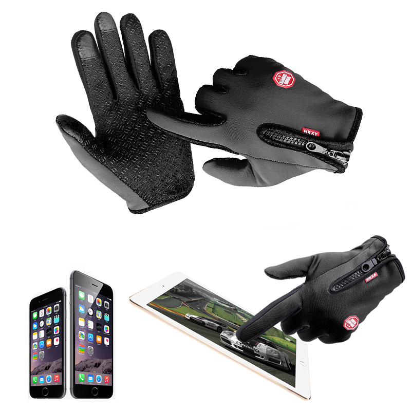 Hot Motorhandschoenen Windstopper Full Finger Ski Handschoenen Warme Riding Handschoen Buitensporten M L XL Maat Auto-styling Touchscreen