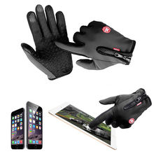 Hot Motorcycle Gloves Windstopper Full Finger Ski Gloves Warm Riding Glove Outdoor Sports M L XL