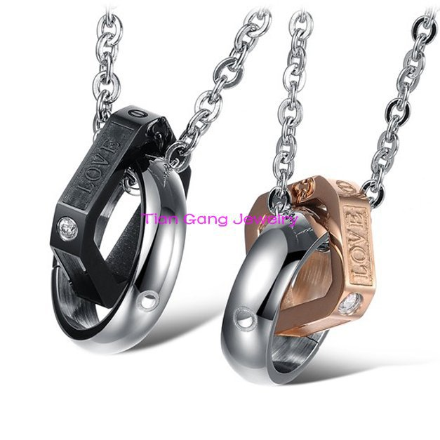 Stainless Steel Jewelry Romantic His and Hers Couple ...