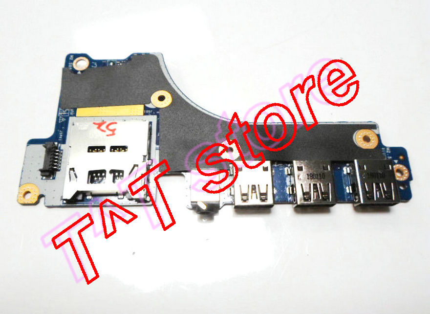 original for Precision 7520 Audio Jack Card Reader USB Board 0HY61 00HY61 CN-00HY61 LS-E313P test good free shipping