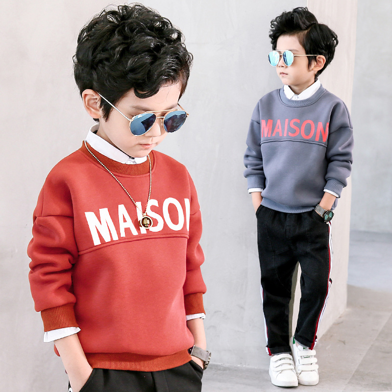 Boys Sweatshirts Long Sleeve Cartoon Letter Shirt for Boys Children T Shirts Cotton Boys Tops 2018 T Shirt Kids Kids Clothing