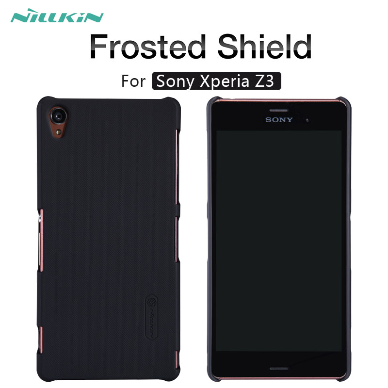 NILLKIN Frosted Shield matte hard back cover case For Sony Xperia Z3 D6603 D6643 D6653 L55 L55T phone case Gift Screen Protector